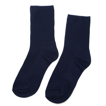 Navy Ribbed Socks