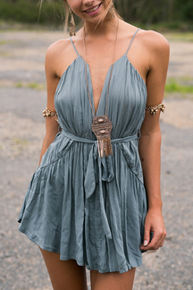 Pleated Cami Mini Dress with Belt