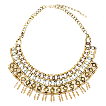 Vintage Crystal Layered necklace