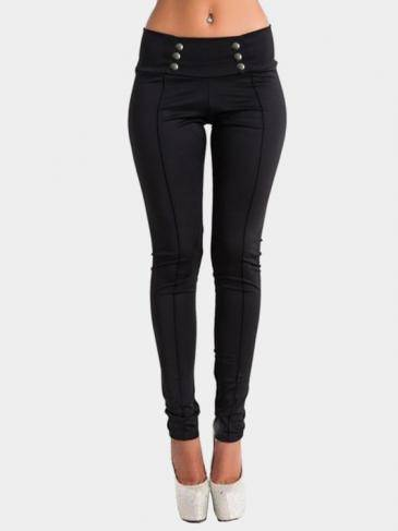 Black Bodycon Low Waist Pencil Trousers
