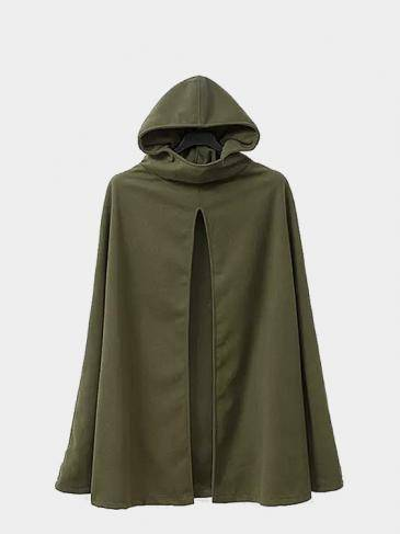 Hooded Cape in Army Green