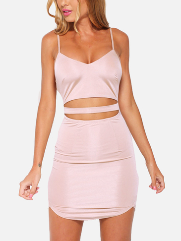 Sexy Sleeveless Backless Mini Satin Dress with Adjustable Straps