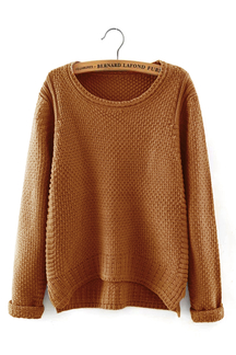 Waffle Knit Sweater in Yellow