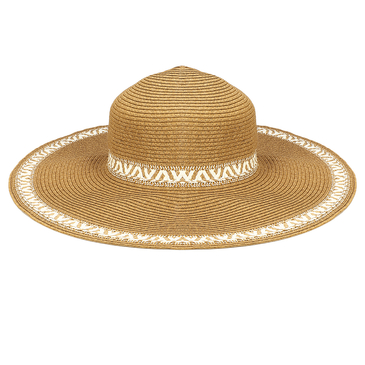 Women Foldable Wide Brim Braided Sun Visor Straw Hat