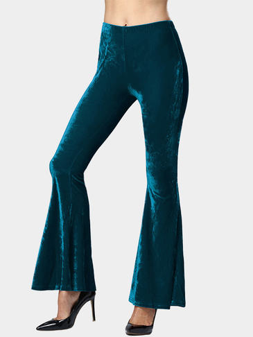 Fashion Velvet Flared Trousers