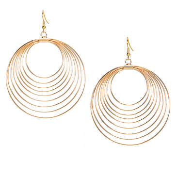 Hoop Post Drop Earings