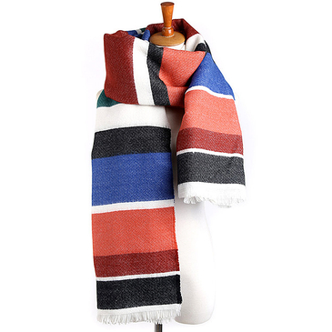 Color Stripe Oversized Wrap Scarf