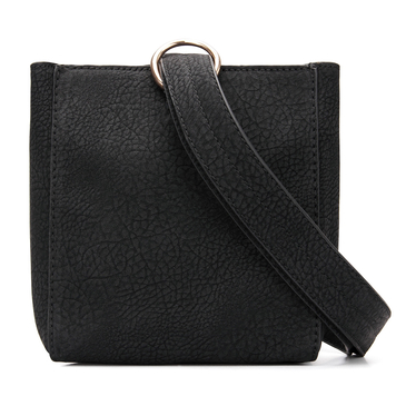 Square Mini Shoulder Bag in Black
