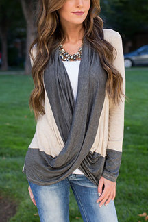 Fashion Crossed Front Ribbed Top