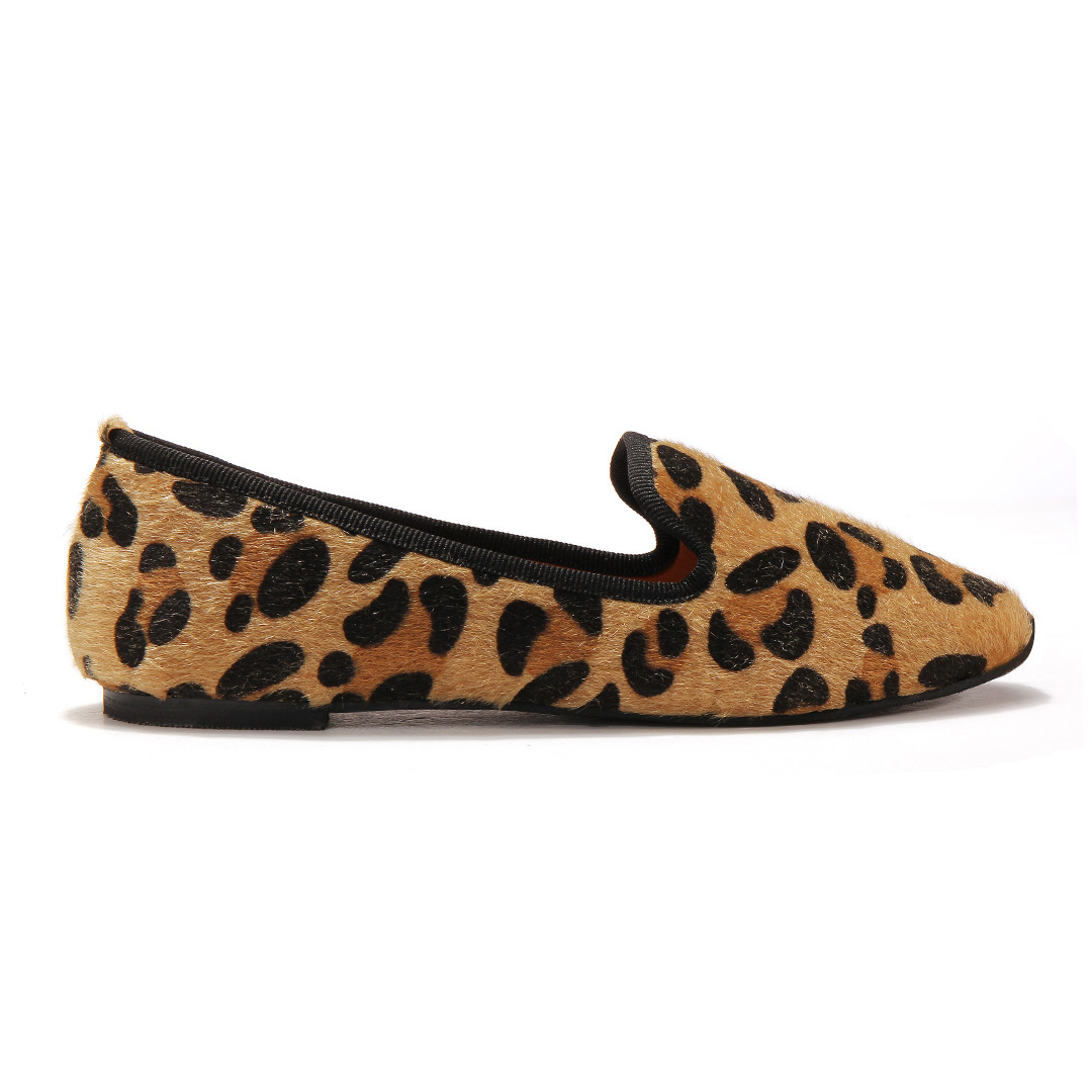 Leopard Print Flat Shoes