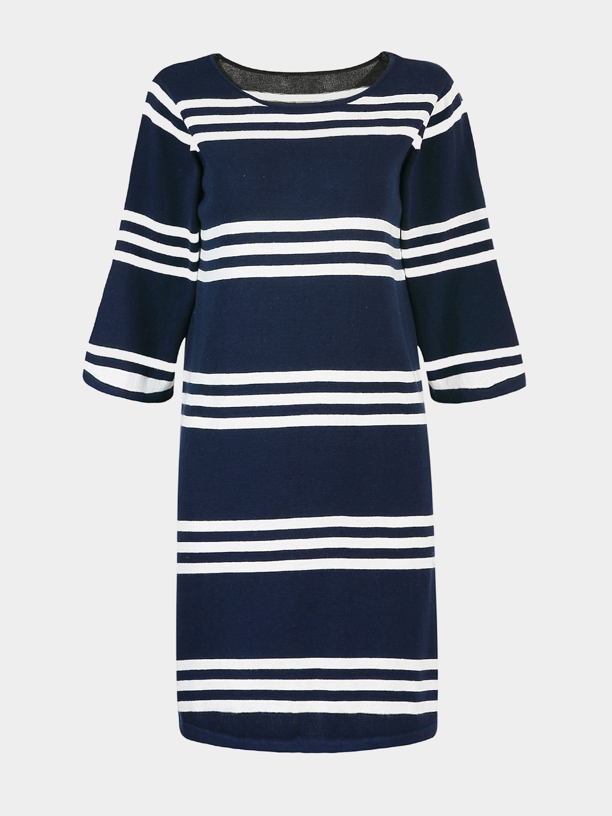 Knitted Dress in Stripe Print