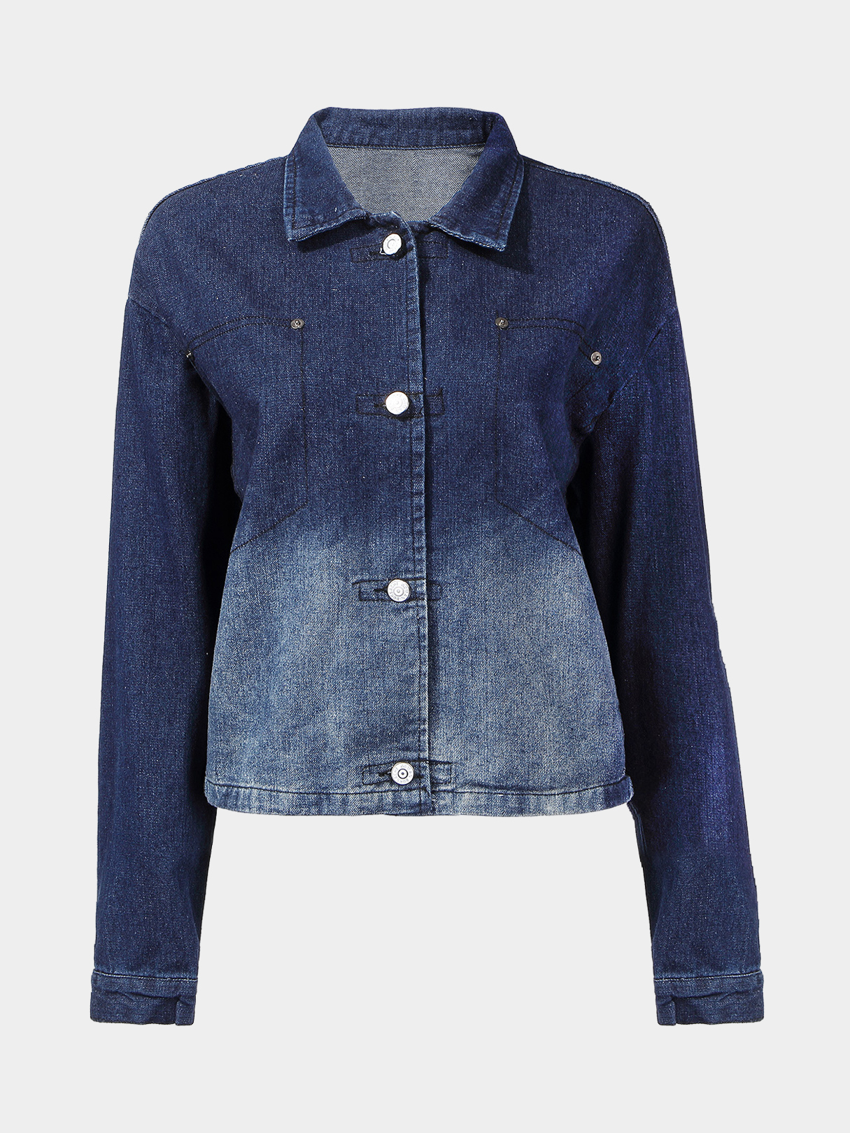 Denim Jacket with Ombre Effect