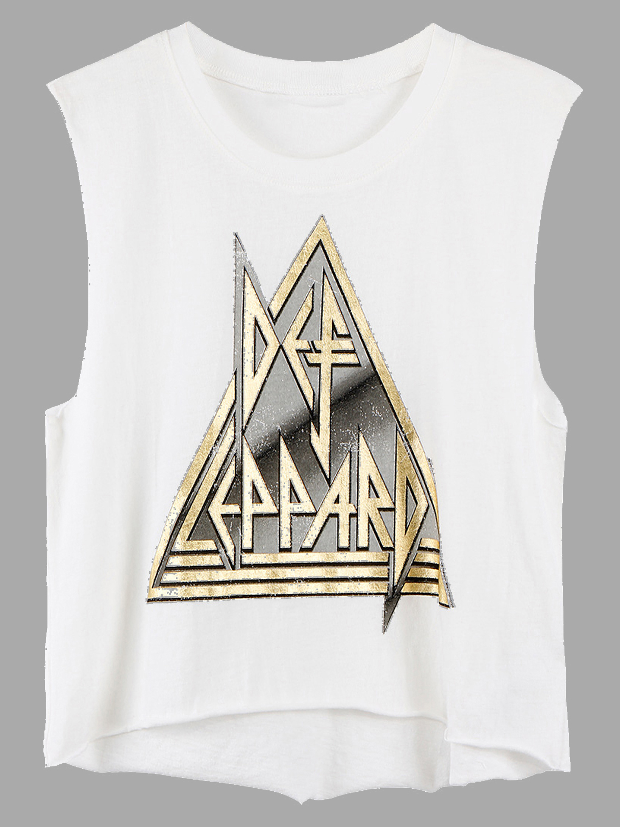 Cropped Tank With Pyramid Print