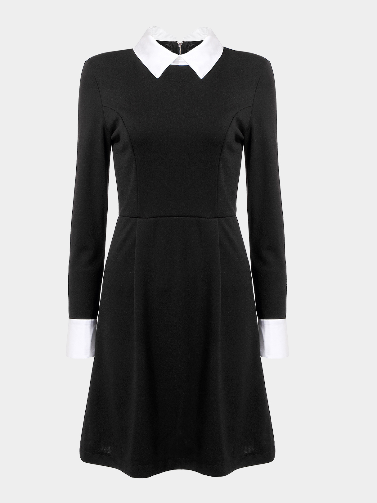 Dress with Stand Collar