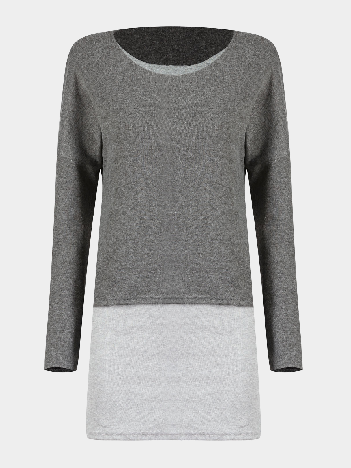 Double Layer Top in Grey