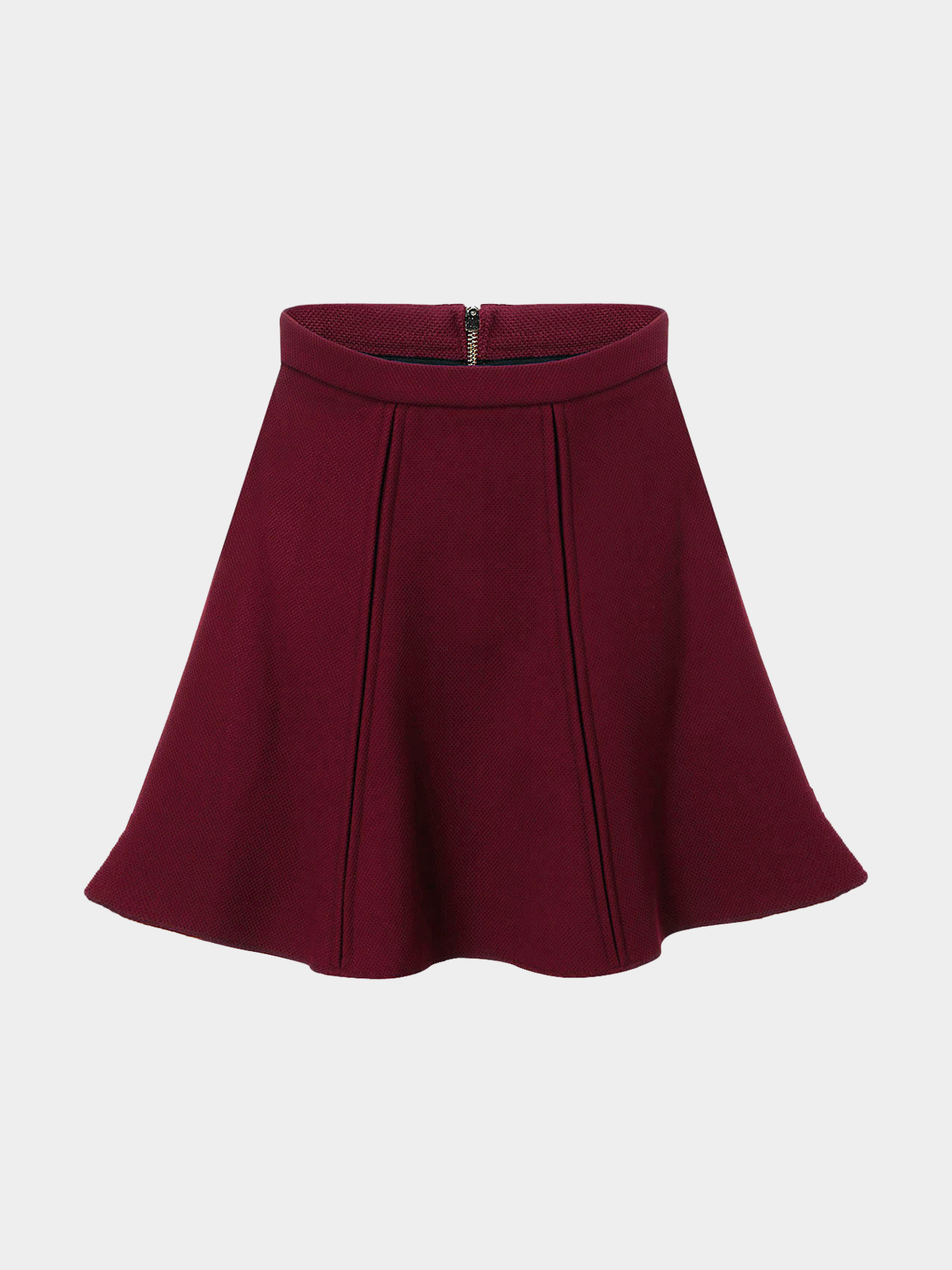 High-rise Waist Skirt in Red