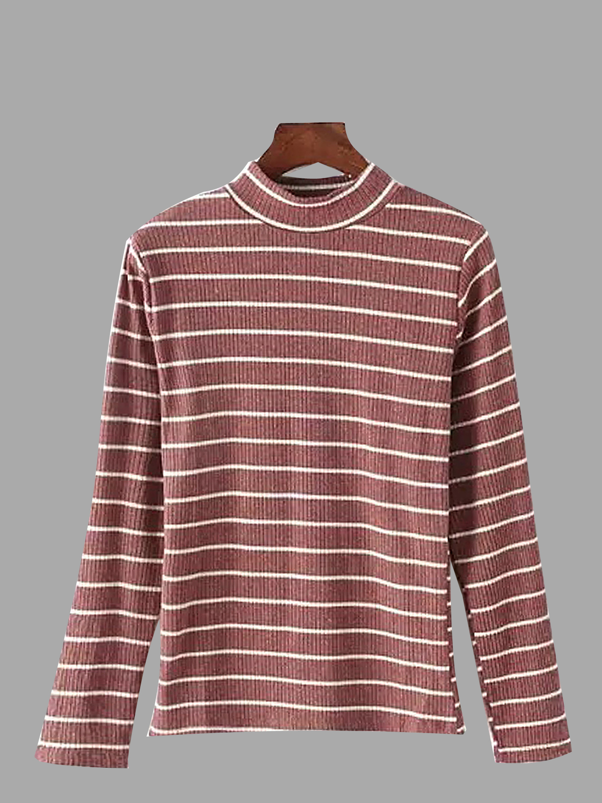Red Top With Stripe and Long Sleeves