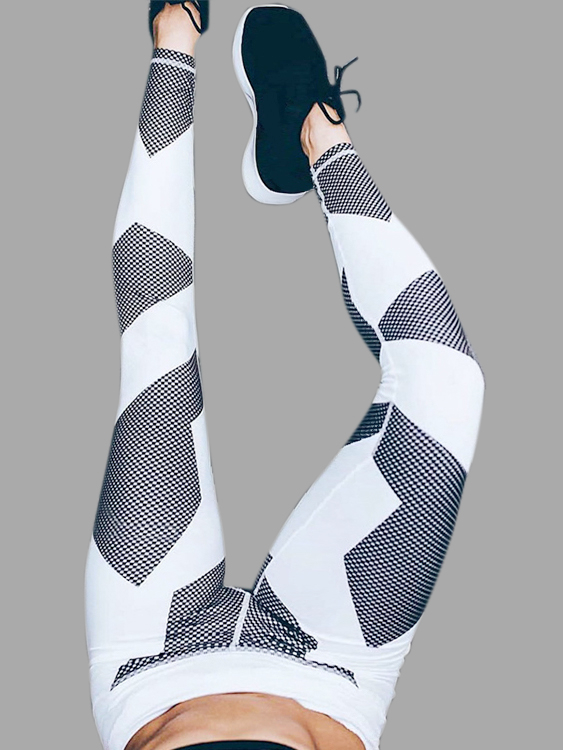 Active Geometrical Pattern Yoga Bodycorn Leggings