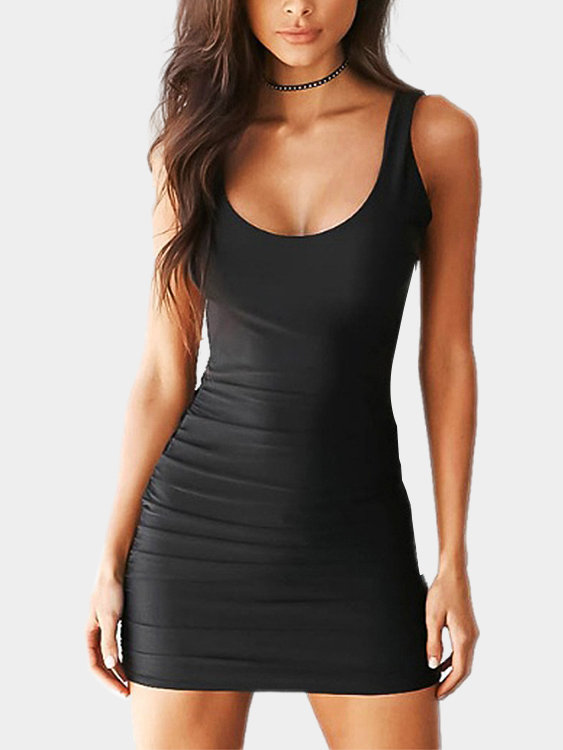 Robe Sexy Sexy Backless Mini Bodycon