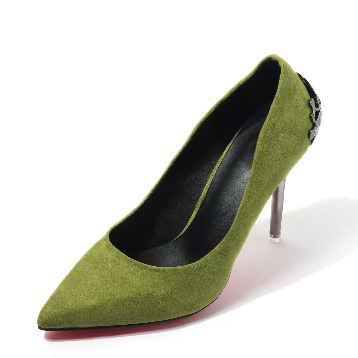 Green Wedding Frosted Suede Stiletto Solid Color Pumps spring autumn fashion pointed toe high heels solid causal women pumps shoes faux velvet female work pumps wedding shoes 302 1ve