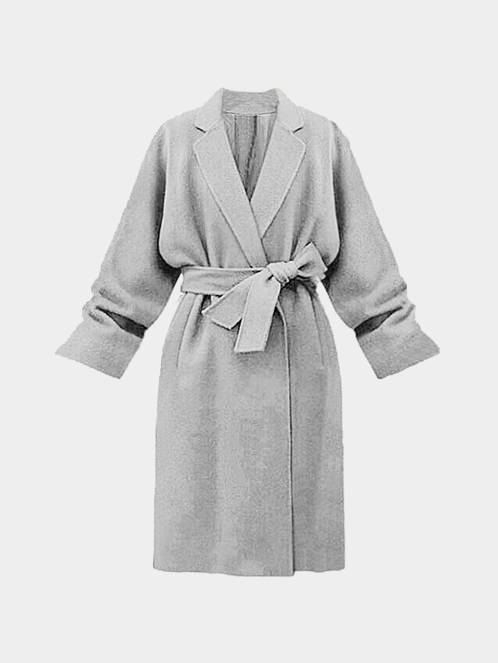 Trench-coat gris avec col à revers