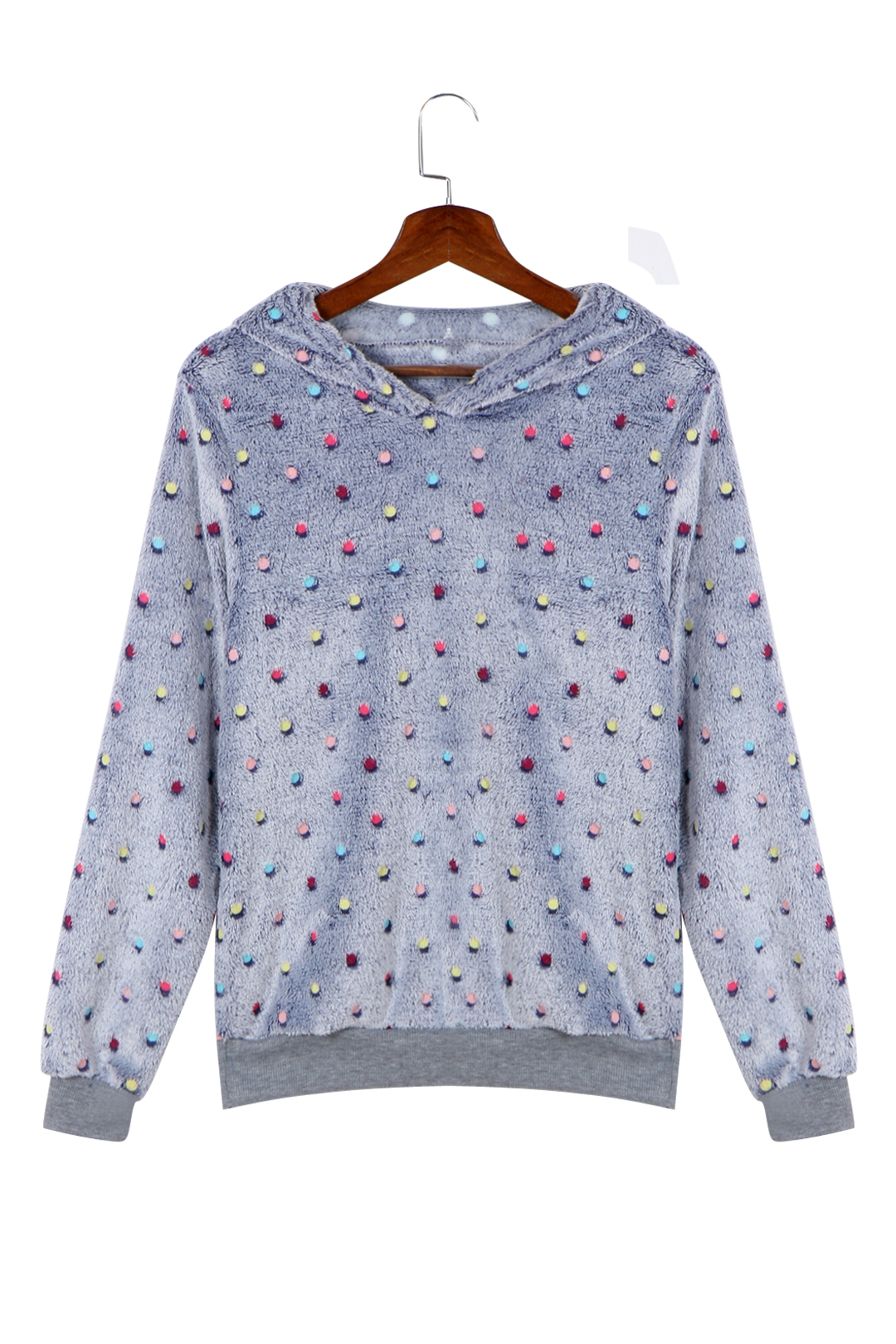 Colorful Wave Point Pattern Causal Hoodie with Hood in Blue nirmal kumar singh and ravi prakash dubey fixed point theorems in topological spaces with application to fratal