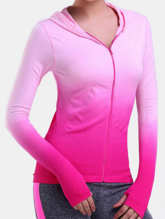 Quick Drying Hoodie in Pink