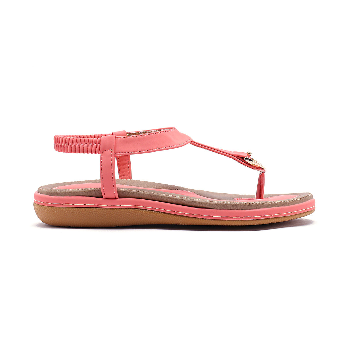 Contrast Color Flat Sandals in Pink brand new smt yamaha feeder ft 8 2mm feeder used in pick and place machine