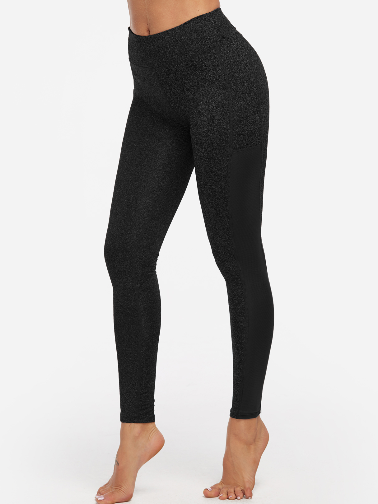 Black Stripe High-waisted Active Bottoms