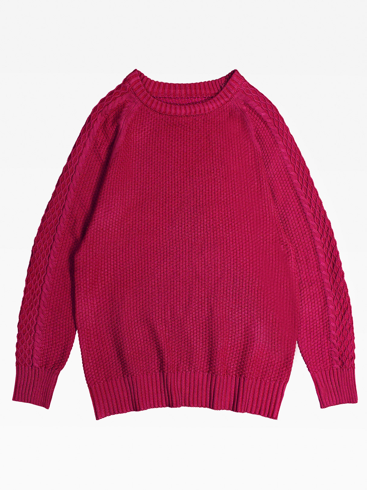 Men's Casual Leisure O-Neck warm knit Pullover Knitting Sweaters In Burgundy
