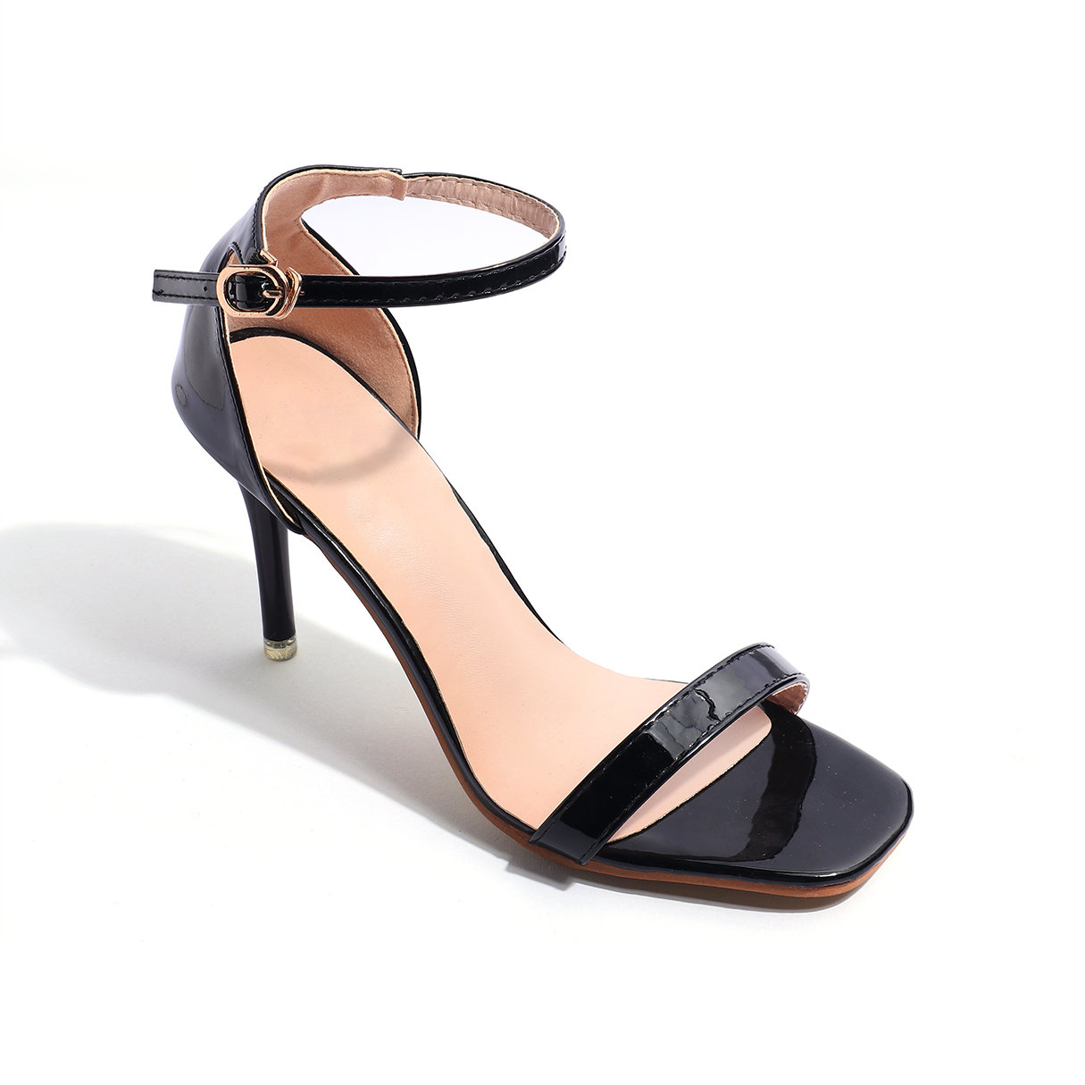 Black Stiletto Sandals with Ankle Strap от Yoins.com INT