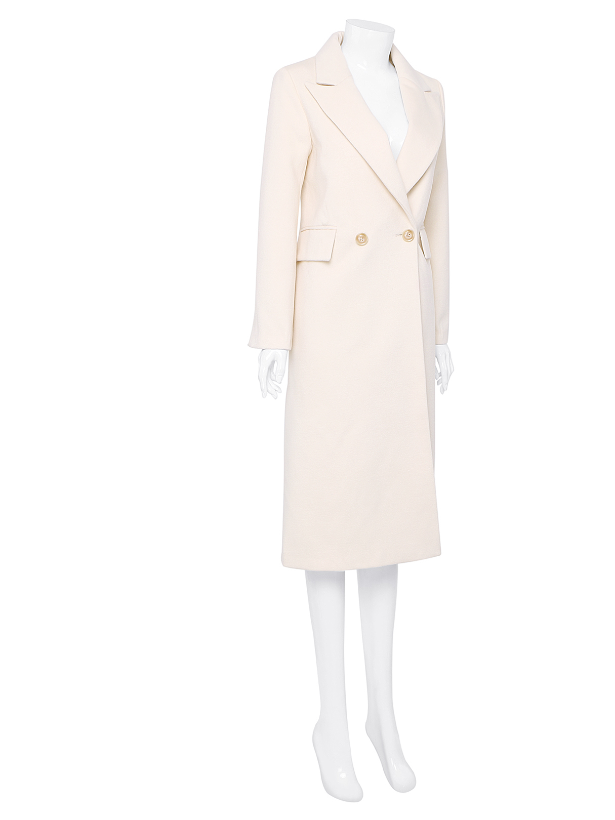 Lapel Collar Duster Coat with Double Breasted от Yoins.com INT