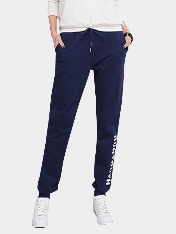 Casual Letter Pattern Trousers bosch 2608584670
