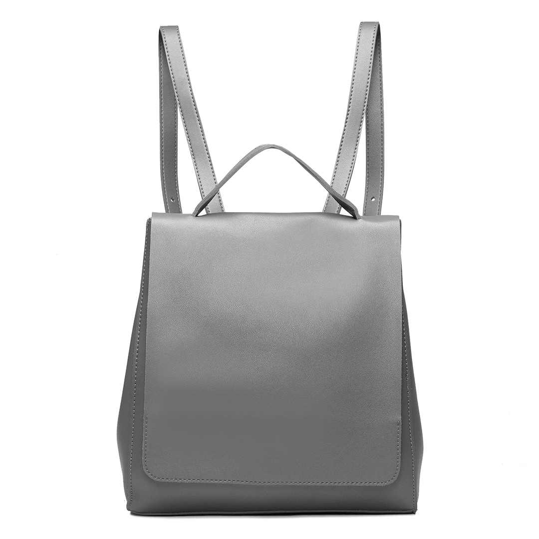 Grey Fashion PU leather look Backpack