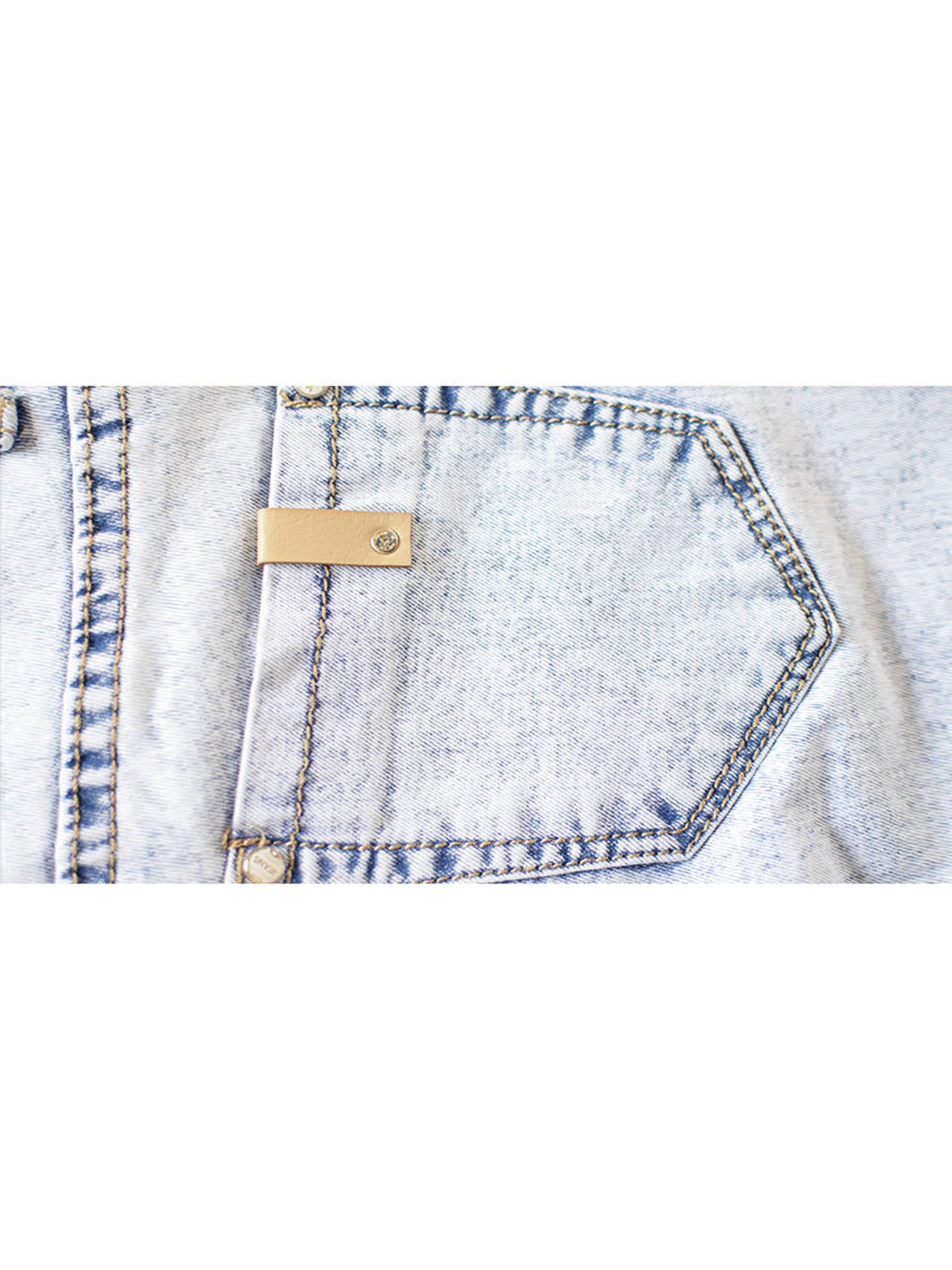 Skinny Jeans In Snow Wash от Yoins.com INT