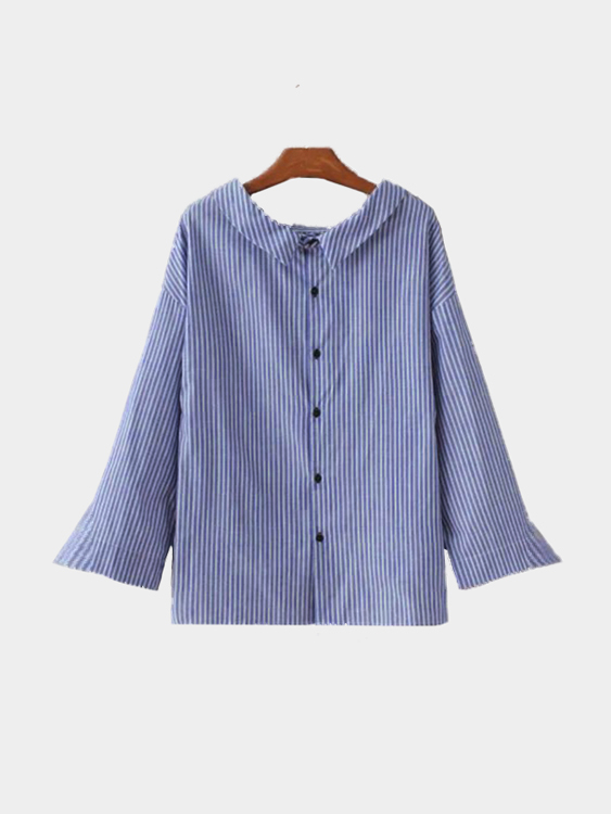 Stripe Pattern Shirt In Fresh Design blue stripe pattern shirt in sweet design