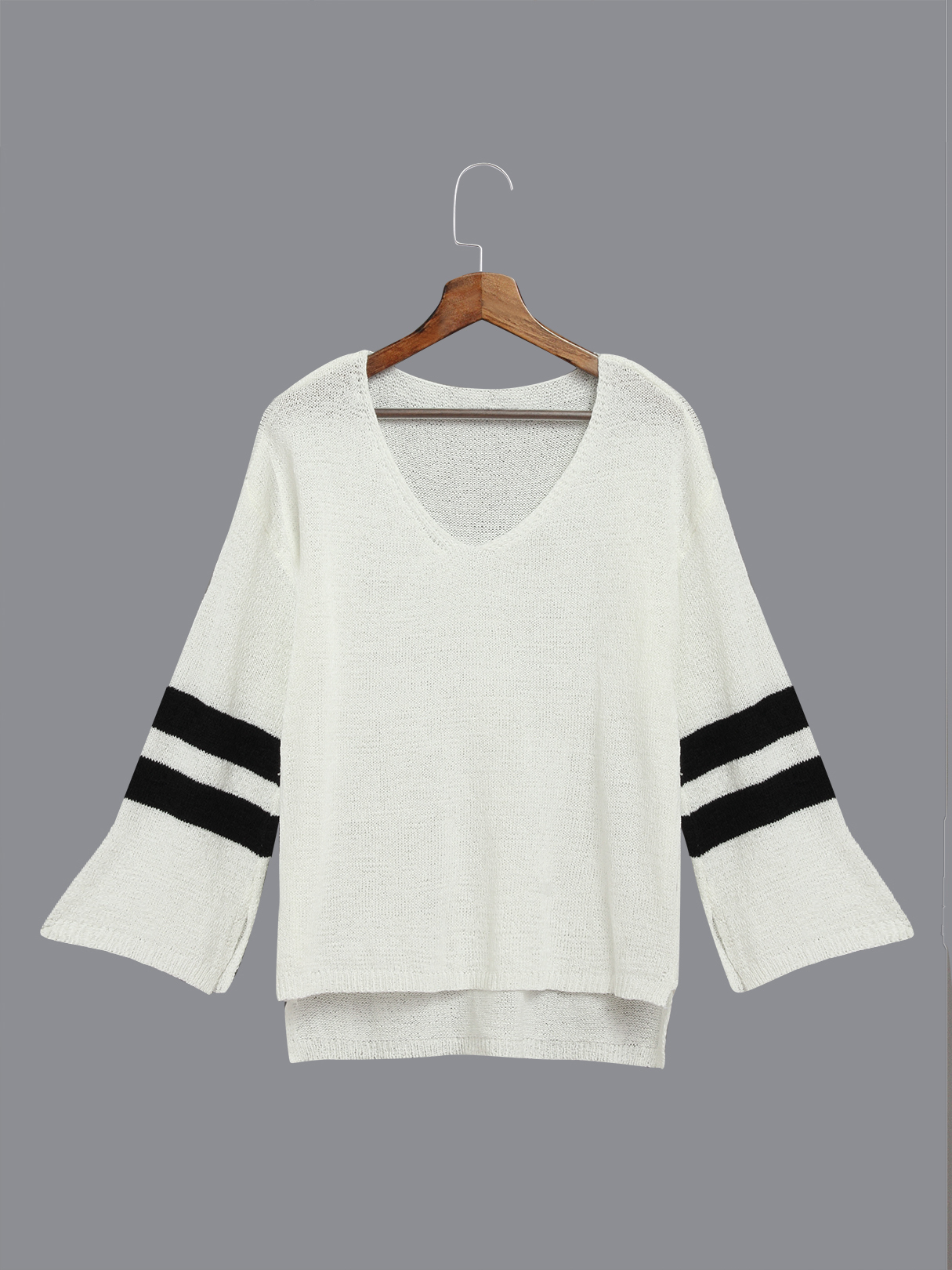 White Flared Sleeves Causal Blouse