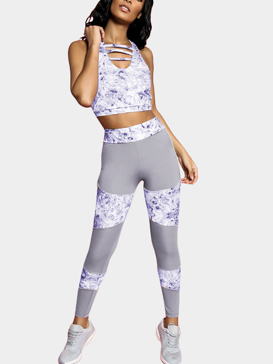 Casual Split Joint Yoga Print Leggings in Grey cushman construction litigation – representing th e contractor 1989 cum supple pr only