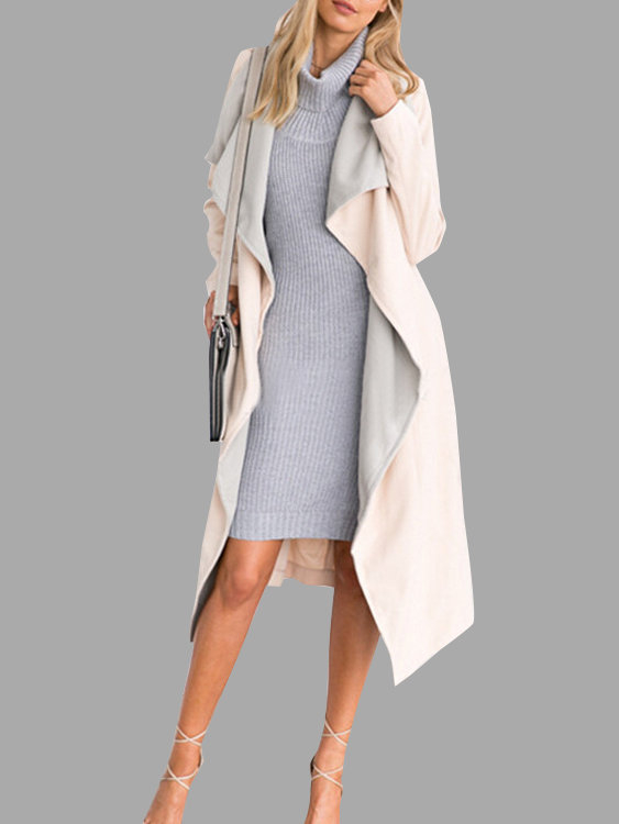 Gray Sleeveless High Neck Knitting Bodycon Mini Dress
