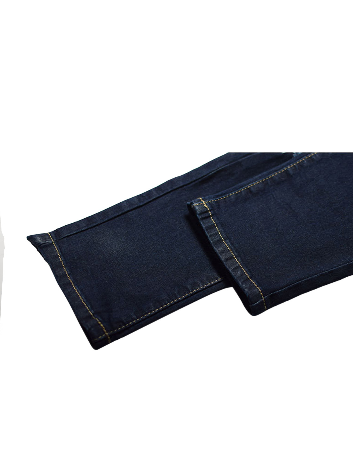 Navy Skinny Jeans With Shredded Rips от Yoins.com INT