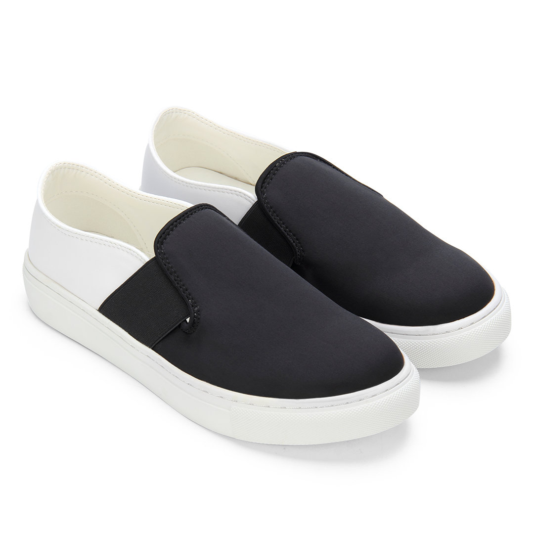 Double Color Causal Style Slip-on Loafers