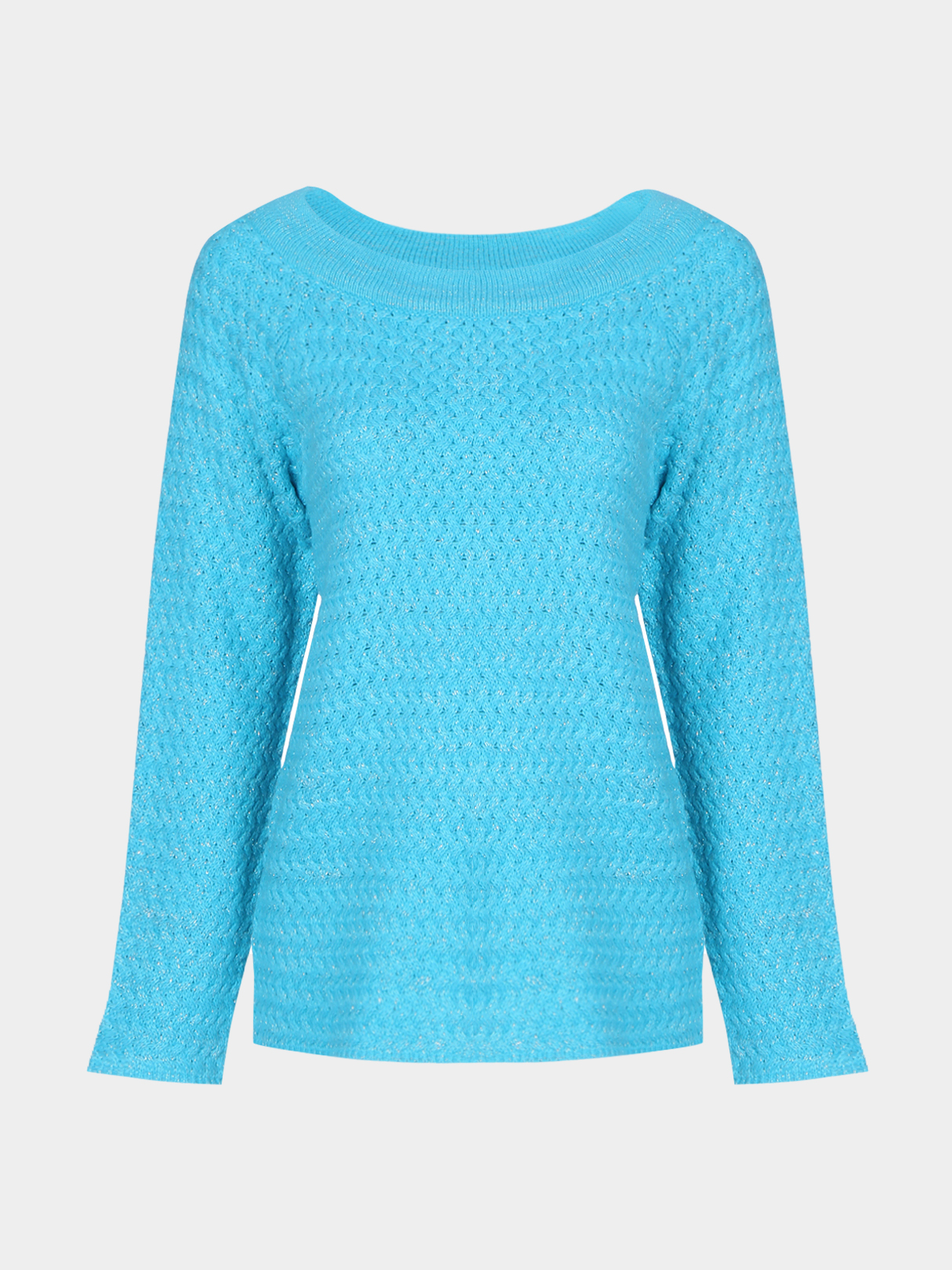 Off Shoulder Pure Color Long Sleeve Sweater