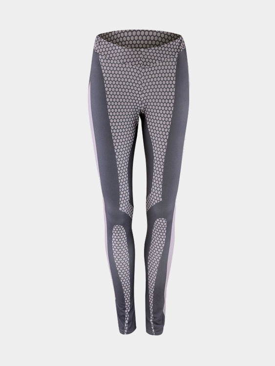 Grey Fashion Print Pattern Bodycon Legging why should i bother to keep fit