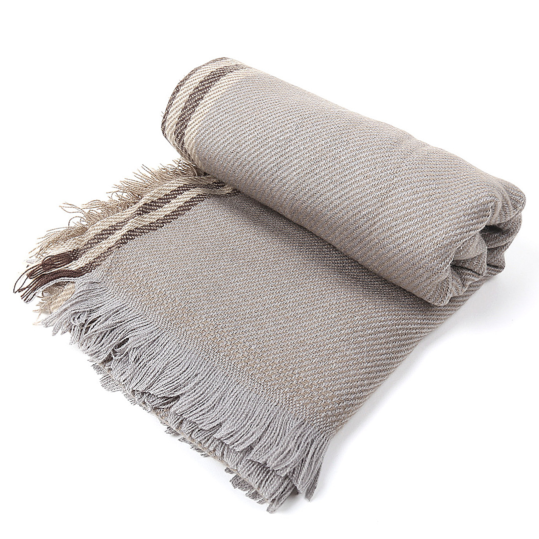 Stripe Wrap Scarf in Khaki