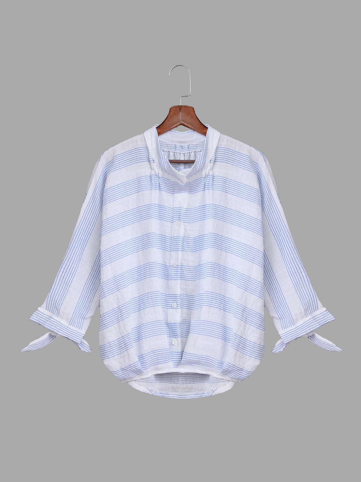 Blue Stripe Pattern Shirt In Sweet design stripe pattern shirt in sweet design