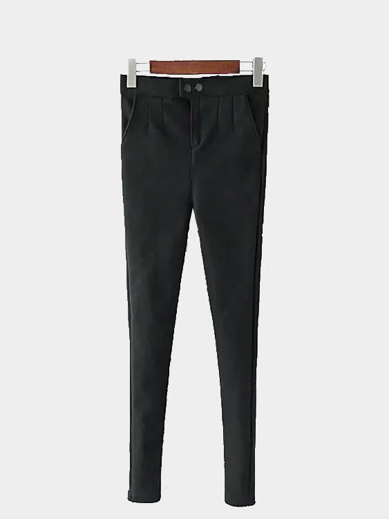 Skinny Trousers in Black