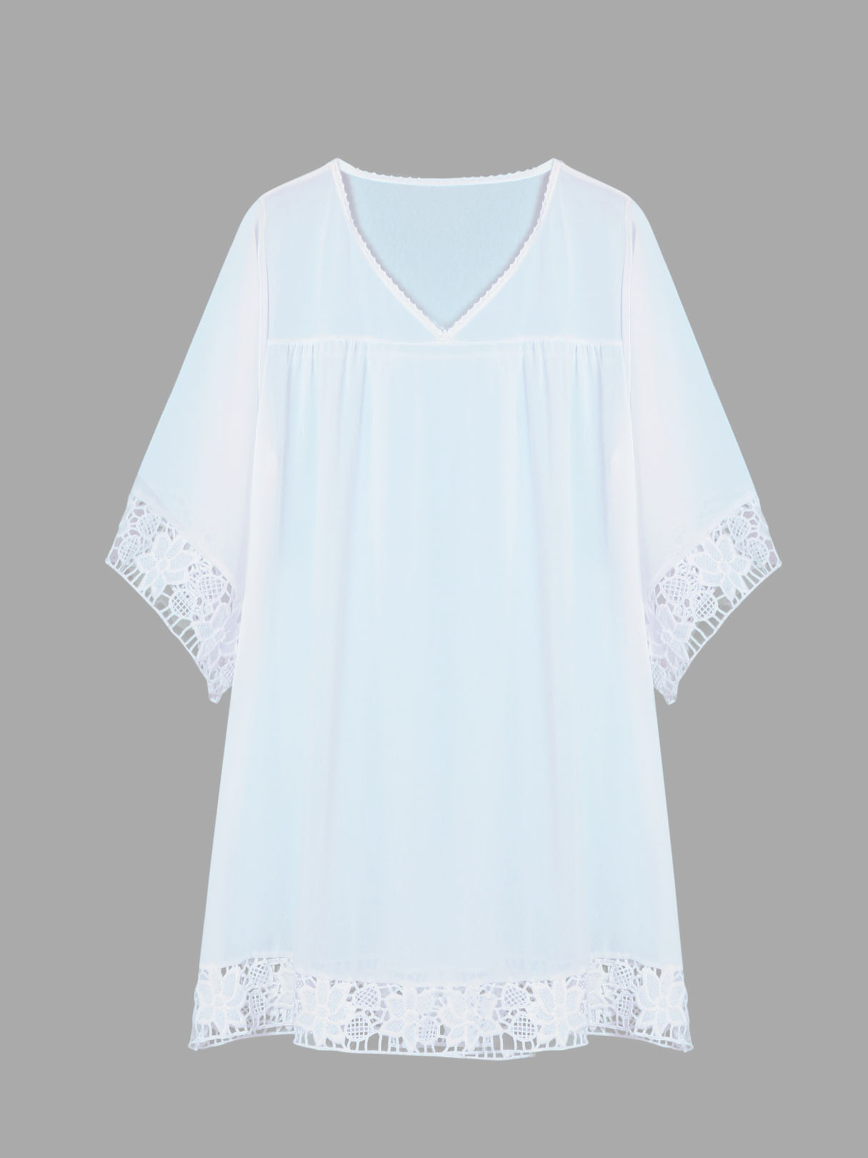 White Sheer Lace Beach Cover Up can you keep a secret