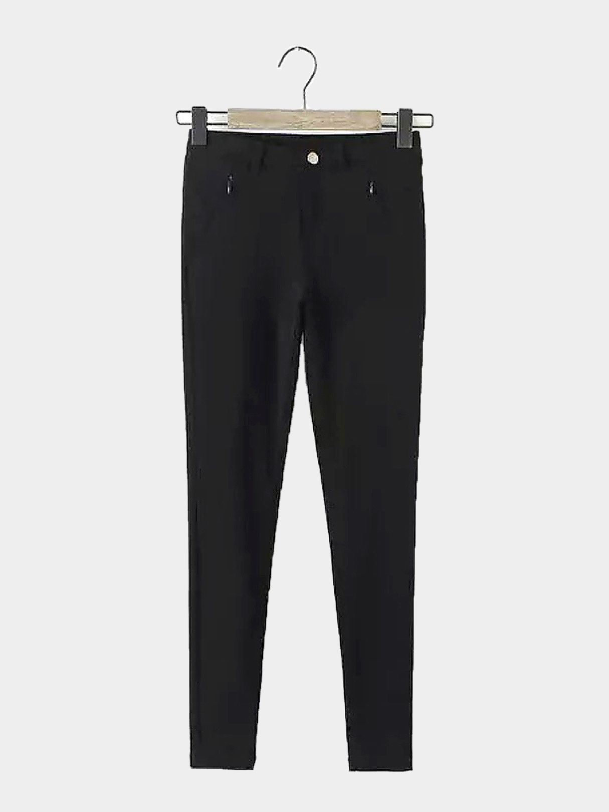 Black Trousers with Zipped Pocket