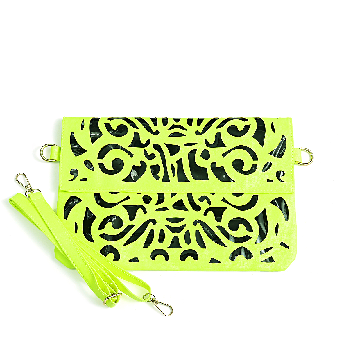 Green Hollow Out Magnetic Closure Crossbody Bag it all begins with food