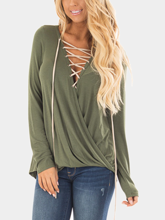 Green Lace-up Front Crossover Top black sexy lace crossover front bralette top